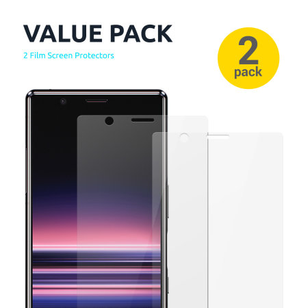 Olixar Sony Xperia 1 II Film Screen Protector 2-in-1 Pack