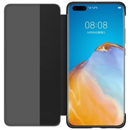 Official Huawei P40 Smart View Flip Cover Slim Case  - Black