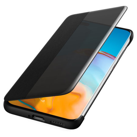 Official Huawei P40 Pro Smart View Flip Cover Slim Case  - Black