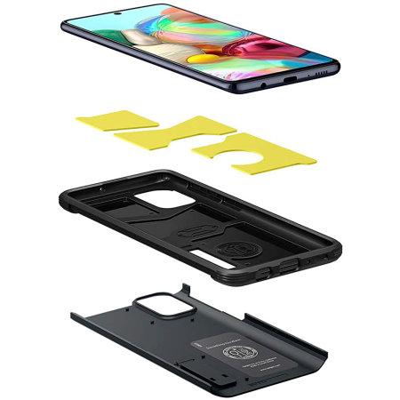 Spigen Tough Armor Samsung Galaxy A71 Case - Metal Slate