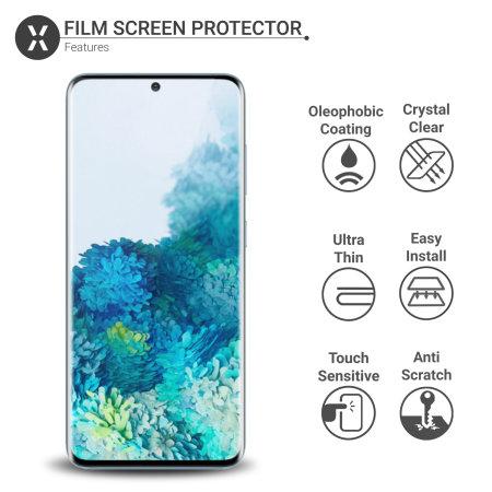 Olixar Samsung S20 Privacy TPU Film Screen Protector 2-in-1 Pack