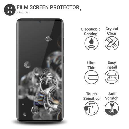 Olixar Samsung S20 Ultra Privacy TPU Film Screen Protector 2-in-1 Pack