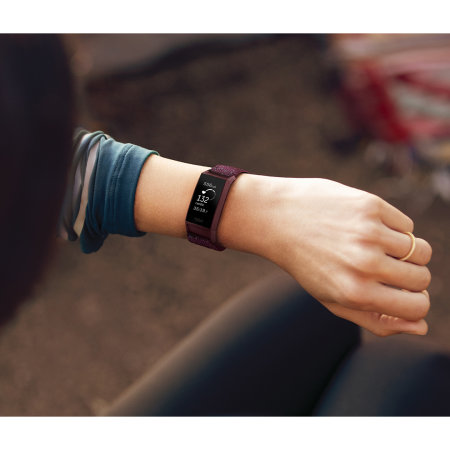 Fitbit Charge 4 Woven Band Strap - Small - Rosewood