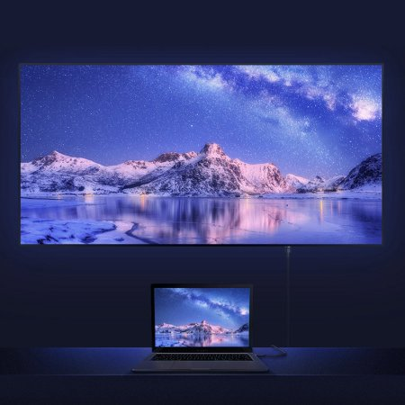 Baseus Extra Long Braided HDMI Cable for TVs and Monitors - 3m - Grey