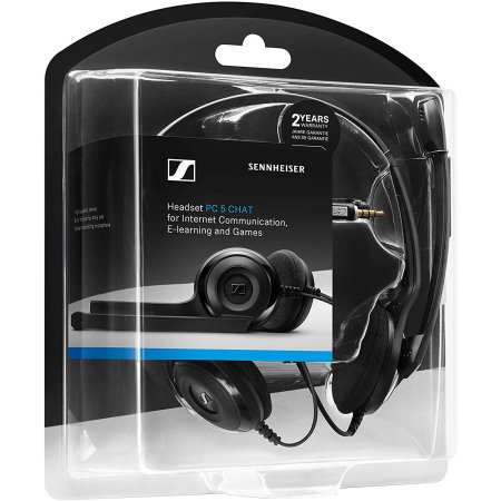 Sennheiser PC 5 Chat Headphones with Mic - Black