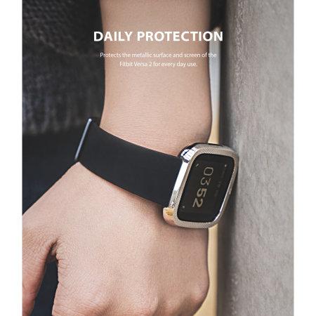 Ringke Fitbit Versa 2 Steel Bezel Styling - Silver