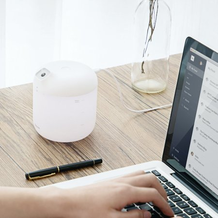 Baseus Elephant 2-in-1 Humidifier Air Purifier + LED Lamp - White