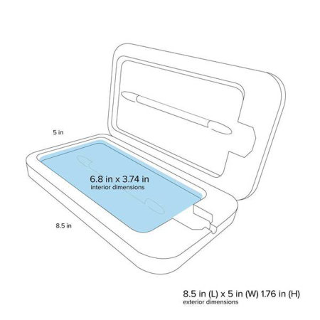 PhoneSoap 3.0 UV Smartphone Sanitiser & Charger - Orchid