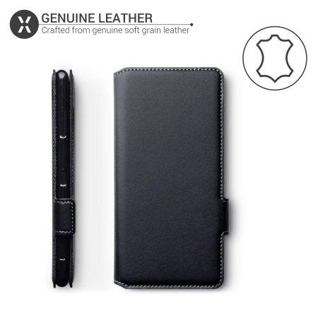 Olixar Slim Genuine Leather Huawei P40 Pro Wallet Case - Black