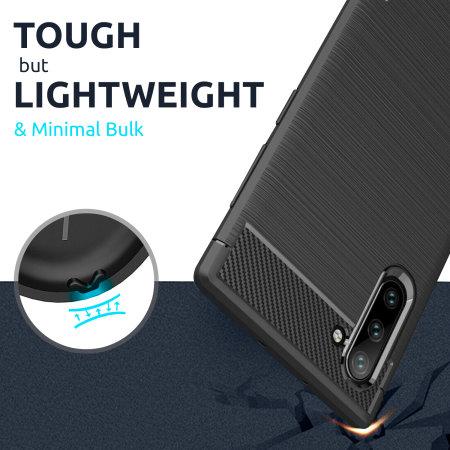 Olixar Carbon Fibre Huawei P40 Pro Case - Black