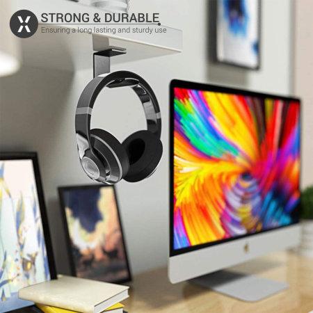 Olixar Ultra Grip Office Desk Headphone Holder - Black