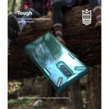 Ringke Fusion X OnePlus 8 Tough Case - Turquoise Green