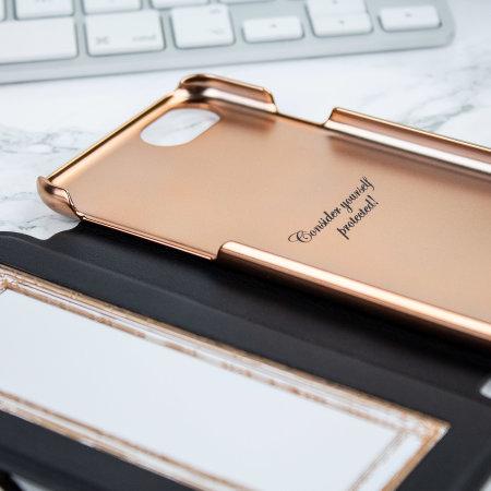 Ted Baker iPhone SE 2020 Shannon Mirror Folio Case - Black / Rose Gold