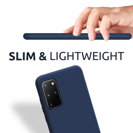 Olixar iPhone SE 2020 Soft Silicone Case - Midnight Blue