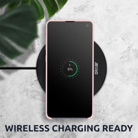 Olixar iPhone SE 2020 Soft Silicone Case - Pastel Pink
