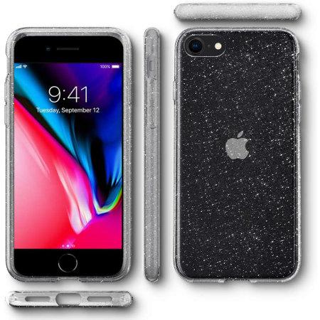 Spigen Liquid Crystal Glitter iPhone SE 2020 Case - Crystal Quartz