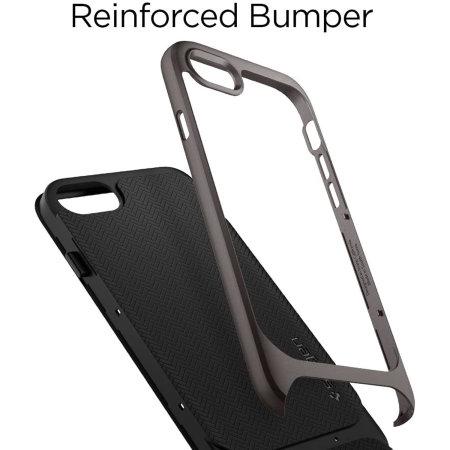 Spigen Neo Hybrid Herringbone iPhone SE 2020 Case - Gunmetal