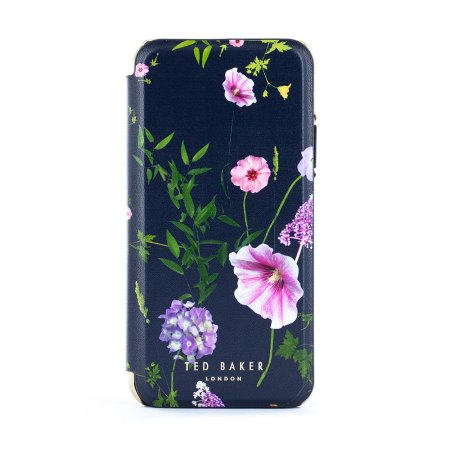 Ted Baker iPhone SE 2020 Cheryia Mirror Folio Case - Hedgerow Purple