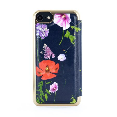 Ted Baker iPhone 7 / 8 Cheryia Folio Mirror Case - Hedgerow Purple