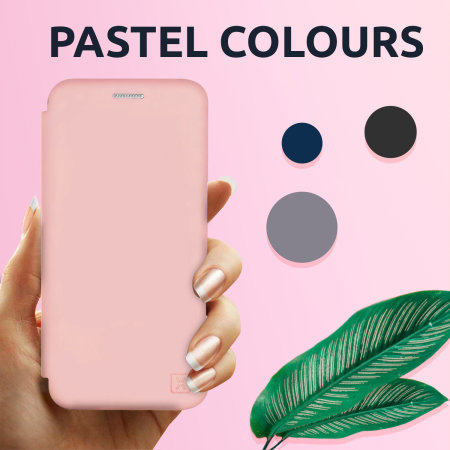 Olixar Soft Silicone iPhone SE 2020 Wallet Case - Pastel Pink