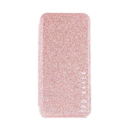 Ted Baker Glitsie iPhone SE 2020 Mirror Folio Case - Rose Gold