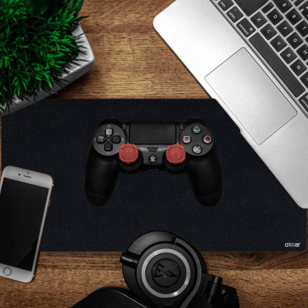 Olixar Full Size Office Desk/Gaming Multi-functional Leather Mat-Black