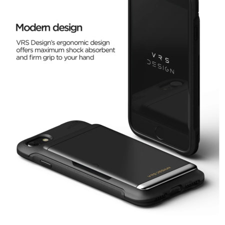 VRS Design Damda Glide Shield iPhone SE 2020 Case - Matt Black