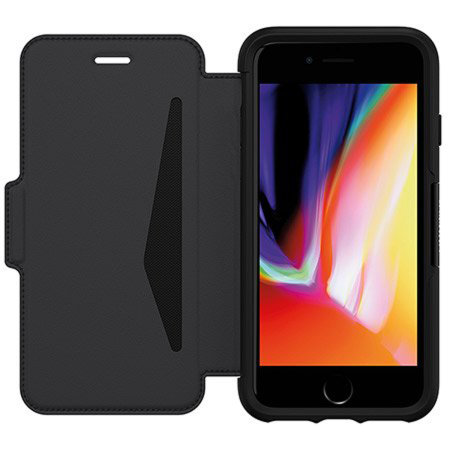 OtterBox Strada iPhone SE 2020 Leather Folio Case - Shadow ...