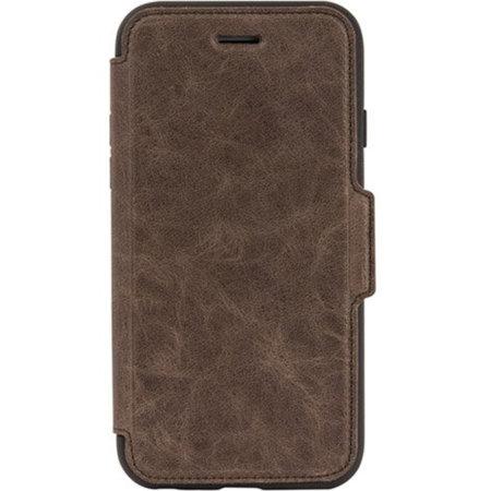 OtterBox Strada iPhone SE 2020 Leather Folio Case - Espresso Brown