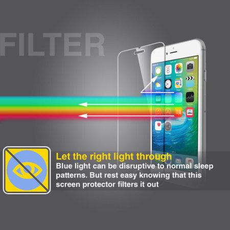 Olixar iPhone SE 2020 Anti-Blue Light Tempered Glass Screen Protector