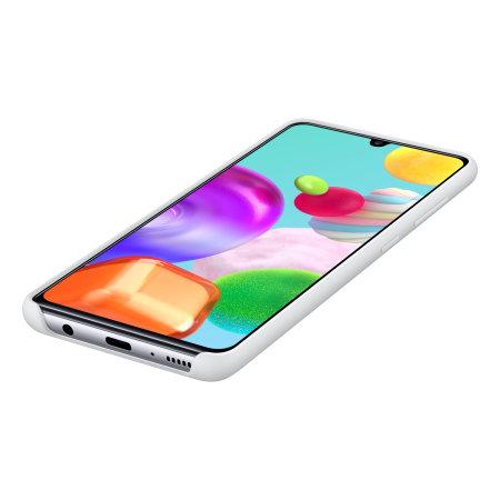Official Samsung Galaxy A41 Silicone Cover Case - White