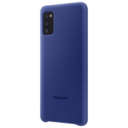 Official Samsung Galaxy A41 Silicone Cover Case - Blue