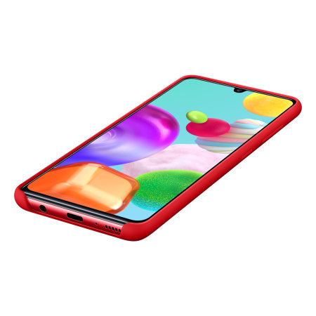 Official Samsung Galaxy A41 Silicone Cover Case - Red