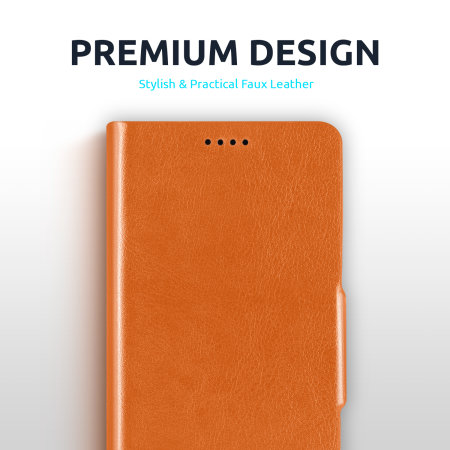 Olixar Leather-Style Google Pixel 4a Wallet Stand Case - Brown