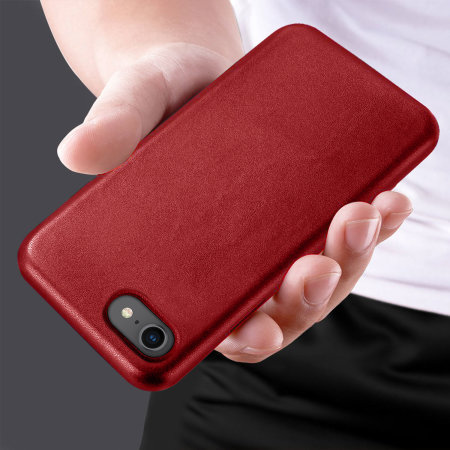 Eco-Friendly Leather iPhone SE 2020 Case - Red