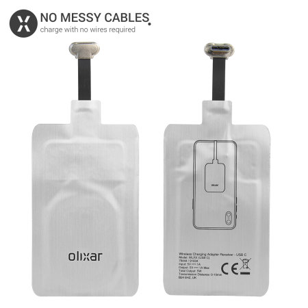 Olixar Samsung A40 Ultra Thin USB-C Qi Wireless Charging Adapter