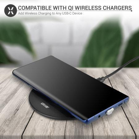 Olixar Samsung A8 2018 Ultra Thin USB-C Qi Wireless Charging Adapter