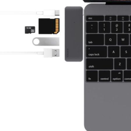 Kanex iAdapt 5-in-1 Multiport USB-C Hub For MacBook - Space Grey