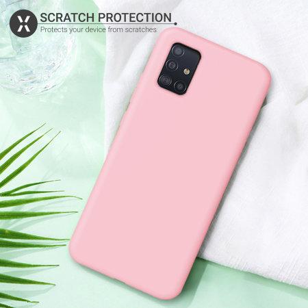 Olixar Soft Silicone Samsung Galaxy A51 5G Case - Pastel Pink