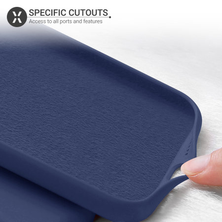 Olixar Soft Silicone Samsung Galaxy A51 5G Case - Midnight Blue