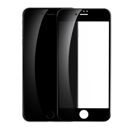 Baseus PET 3D iPhone SE 2020 Glass Screen Protector - Clear / Black