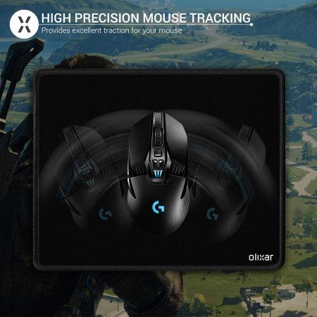 Olixar SuperGlide Universal Office/Gaming Mouse Mat - Black
