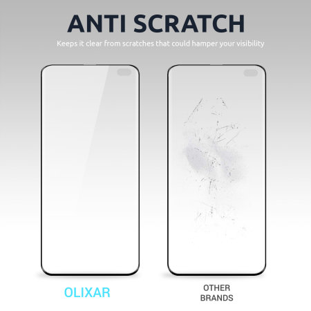 Olixar Samsung Galaxy A41 Tempered Glass Screen Protector- Black