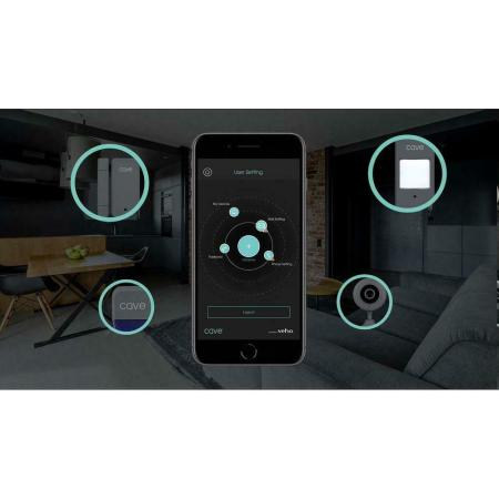 Veho Cave Smart Home PIR Wireless Motion Sensor - Grey