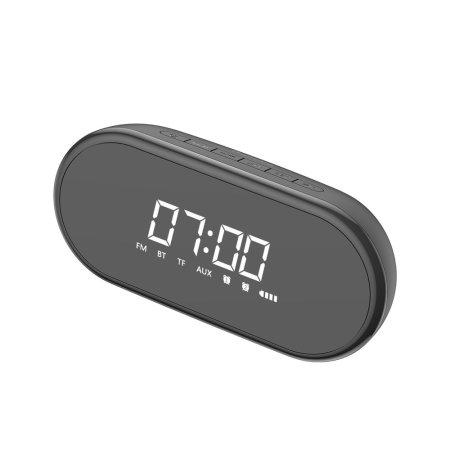 Baseus Encok Wireless Bluetooth Speaker With Alarm Clock - Black
