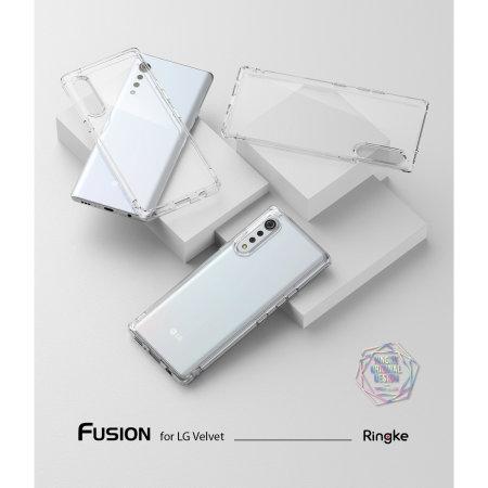 Ringke Fusion LG Velvet Case - Smoke Black