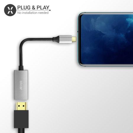 Olixar Microsoft Surface Go 2 USB-C To HDMI 4K 60Hz Adapter