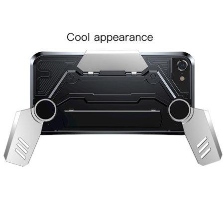 Baseus GamePad iPhone 7 / 8 Gamer Case - Black / Silver