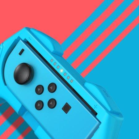 Baseus Nintendo Switch Joy-Con Holder Set - Red & Blue