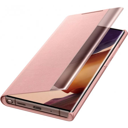 Official Samsung Note 20 Ultra Clear View Cover Case - Mystic Bronze